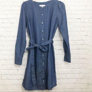 Loft denim dress with belt size Small